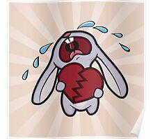 Broken Hearted Bunny Poster