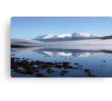 Ben Nevis reflected in Loch Eil. Canvas Print