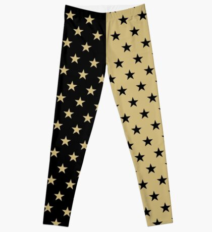 Tan and Black Stars Leggings