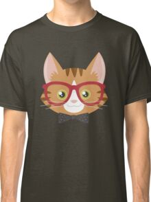 Orange Tabby Hipster Cat Classic T-Shirt