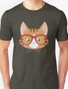 Orange Tabby Hipster Cat Unisex T-Shirt