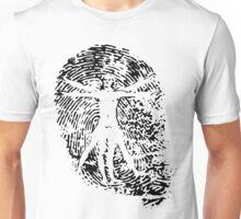 Vitruvian Man Fingerprint (Light) Unisex T-Shirt