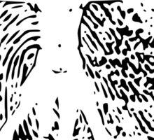 Vitruvian Man Fingerprint (Light) Sticker