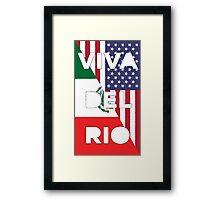 WWE Viva Del Rio MexAmerica Framed Print