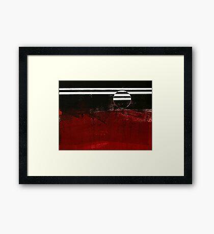ABSTRACT SUN Framed Print