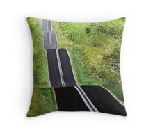 Hilltop Road Throw Pillow