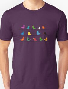 Swarm of birds on a line T-Shirt