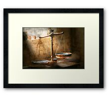 Lawyer - Scale - Balanced law Framed Print
