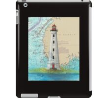 Cape Sable Lighthouse NS Canada Map Cathy Peek Art iPad Case/Skin