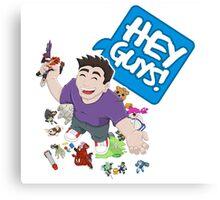 """""""Hey Guys!"""" Cartoon Canvas Print"""