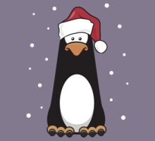 Christmas Pensive Penguin Kids Tee