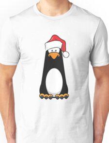 Christmas Pensive Penguin Unisex T-Shirt