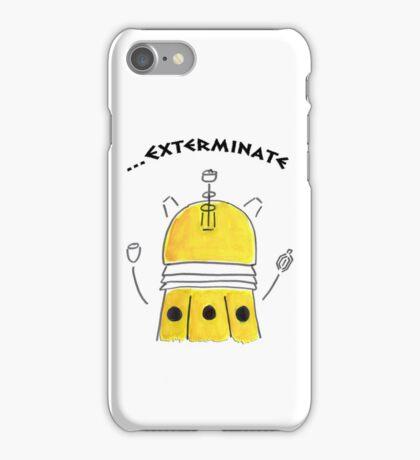 Yellow Dalek - Hand drawn, Watercolor iPhone Case/Skin