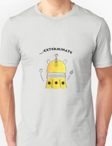 Yellow Dalek - Hand drawn, Watercolor T-Shirt