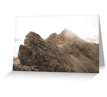 The Bhasteirs and Sgurr Nan Gillean Greeting Card