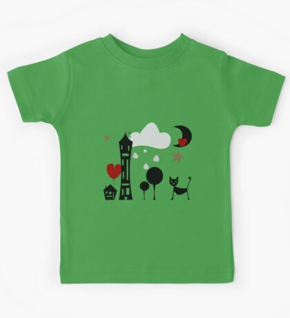 Cat nigth out Kids Tee
