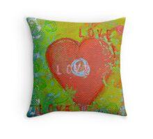 love heart 3 Throw Pillow