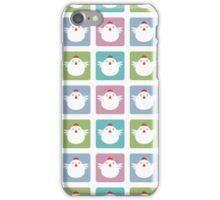 White Kawaii Chicken Square Pattern iPhone Case/Skin
