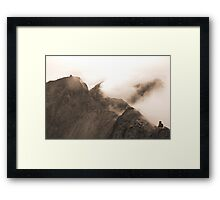 From Sgurr Mhic Choinnich Back to The Inaccessible Pinnacle, Skye Framed Print