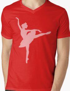 Ballerina (pink) Mens V-Neck T-Shirt