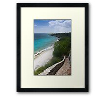 1,000 steps in Bonaire Framed Print