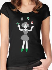 Socialmedia Lady - skillful Women's Fitted Scoop T-Shirt