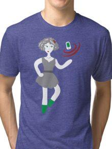 Socialmedia Lady - superpowers Tri-blend T-Shirt