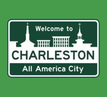 Welcome to Charleston, South Carolina, Road Sign, USA by worldofsigns