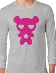 Magenta Lazy Bear (Cute and Pink) Long Sleeve T-Shirt