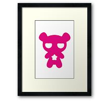 Lazy Bear Pink Framed Print