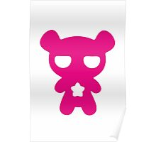 Lazy Bear Pink Poster