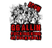 GG Allin king of rock n roll Photographic Print