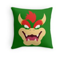 Bowser the King of Koopas Minimalistic Design Throw Pillow