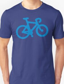 Blue Simple Bike Unisex T-Shirt