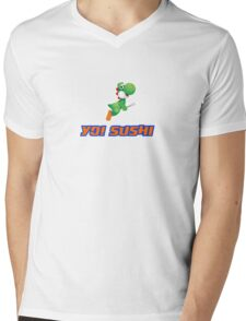YO! Sushi Mens V-Neck T-Shirt