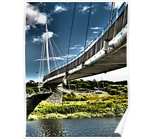 footbridge over the river Poster