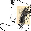 nude with scribble by Loui  Jover
