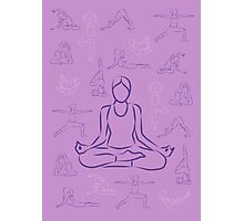 Violet Yoga Photographic Print