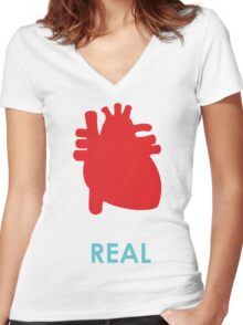 Reality - turquoise Women's Fitted V-Neck T-Shirt