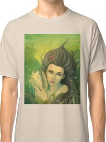 Sea Song - Mermaid with Sea Shell Classic T-Shirt