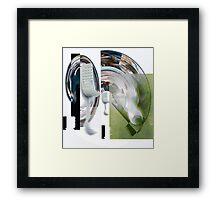 Test Match Cricket Bowl, Strike & Out. Framed Print