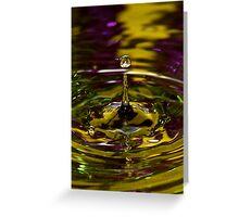 Gold and green water drop Greeting Card