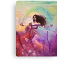 Temperance - Woman in Flower Field Canvas Print