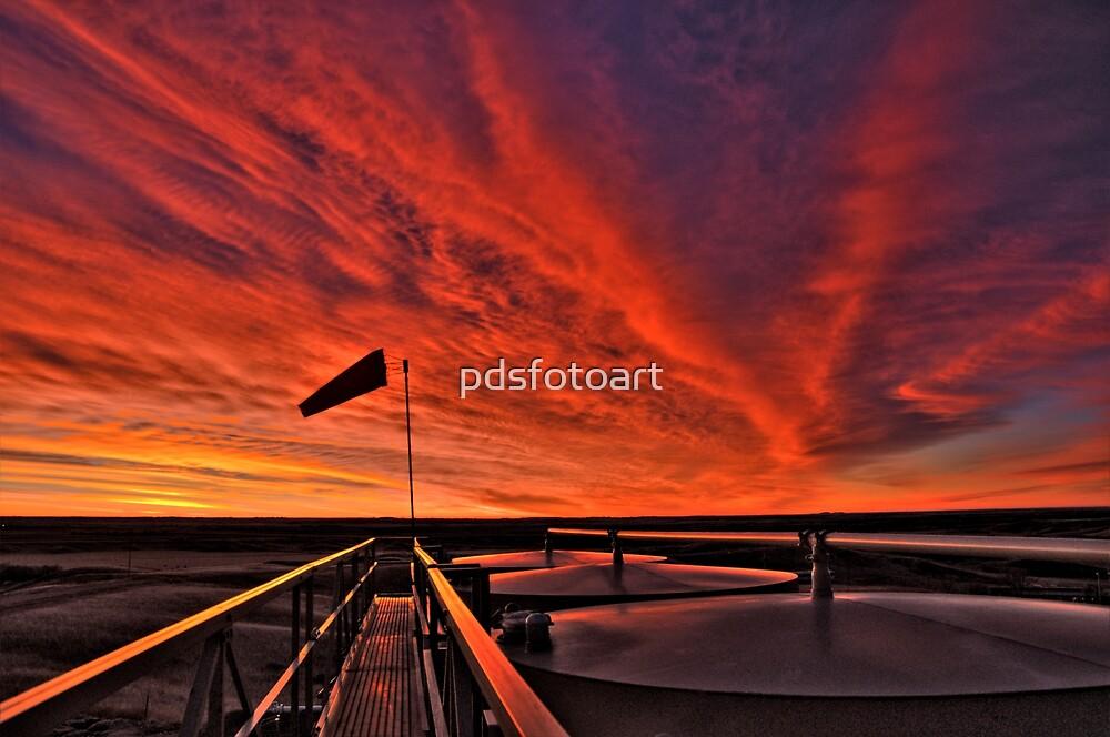 """Sunrise over the """" Bakken """"  by pdsfotoart"""