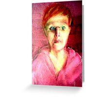 Self Portrait Pastel III Greeting Card