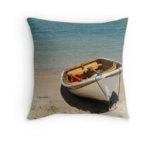 Clifton Gardens row boat Throw Pillow