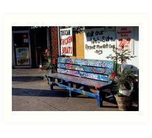 Market Bench Art Print
