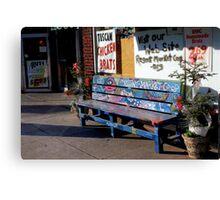 Market Bench Canvas Print
