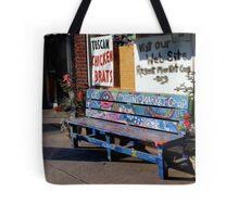 Market Bench Tote Bag