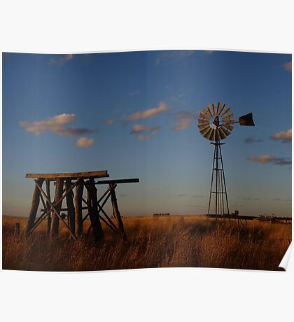 Evening On The Plains Poster